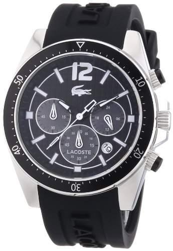Lacoste Herren-Armbanduhr XL Analog Quarz Silikon 2010712