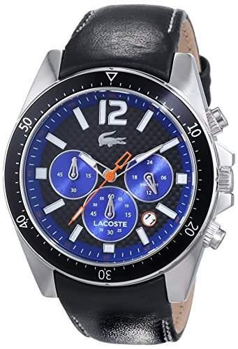 Lacoste Herren-Armbanduhr Analog Quarz Leder 2010752
