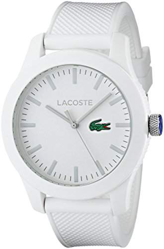 Lacoste Silikon Band Farbe Uhren weiss