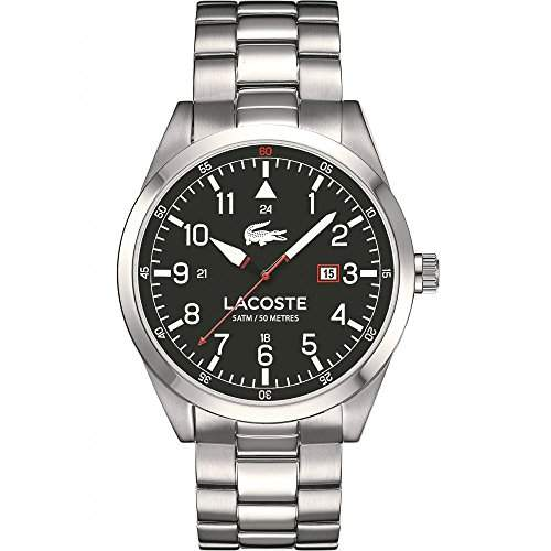 Lacoste-2010776-Montreal-Armbanduhr-Quarz Analog-Zifferblatt schwarz Armband