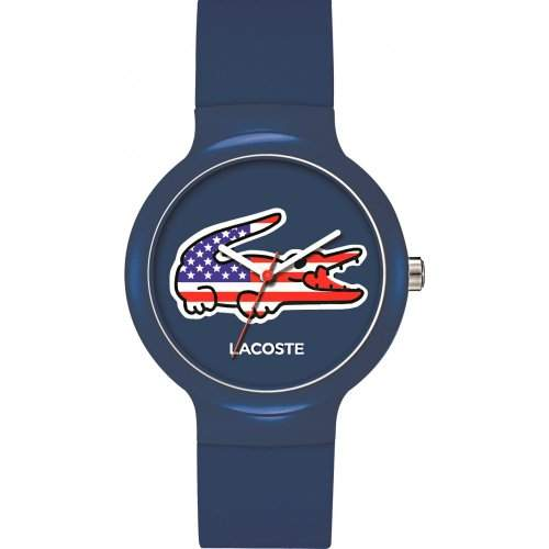 Lacoste Watches Unisex Goa Stars And Stripes Watch With Blue Dial