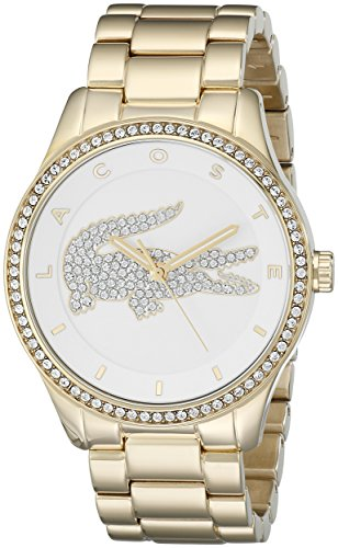 Lacoste 2000827 Armbanduhr VICTORIA Damen Silber Zifferblatt Edelstahl Stahl Fall Quarz Uhrwerk