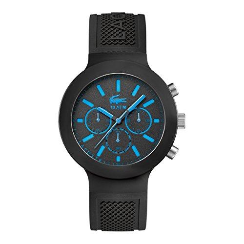 Lacoste 2010812 Borneo Armbanduhr Quarz Analog Zifferblatt schwarz Armband