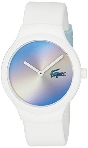 Lacoste 2020108 Goa Tuerkis Weiss Silikon Uhr Silicon