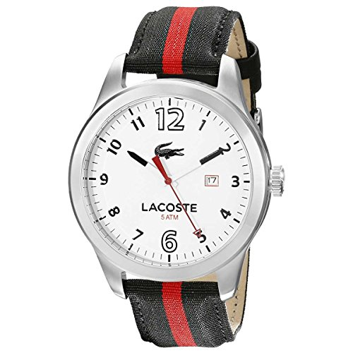 Lacoste Auckland Stainless Steel Mens Fashion Strap Watch White Dial Date 2010723