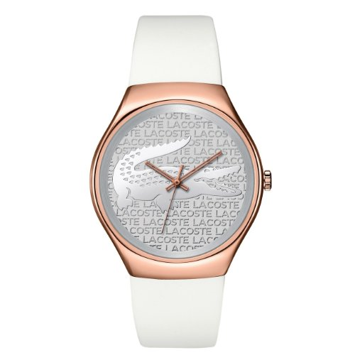 LACOSTE DAMEN 38MM WEIss SILIZIUM ARMBAND ROTGOLD GEH USE UHR 2000788