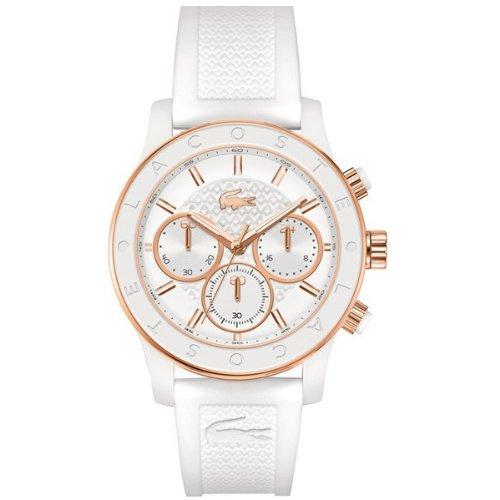 Lacoste Damen Armbanduhr Chronograph Quarz Silikon 2000798
