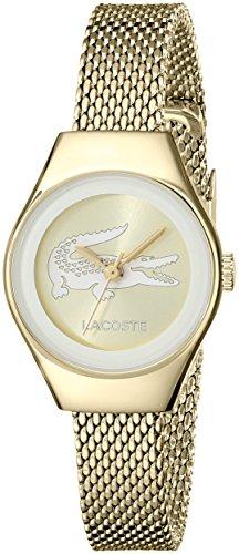 Lacoste VALENCIA GOLD goldionenplattiertem Edelstahl Mesh Armband 24 mm 2000876