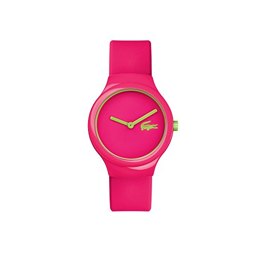 Lacoste Damen Armbanduhr 40mm Armband Silikon Pfirsich Gehaeuse Plastik Batterie Analog 2020098