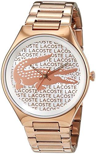 Lacoste Damen Armbanduhr Valencia Analog Quarz Edelstahl beschichtet 2000929