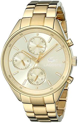Marke New Lacoste Damen Philadelphia Gold goldionenplattiertem Edelstahl Armband 39 mm 2000866