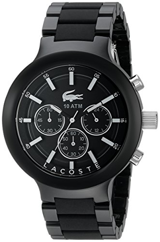 Lacoste Herren 2010770 Borneo Analog Display Japanisches Quartz Black Watch