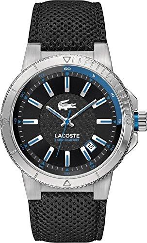 Lacoste Herren Armbanduhr Darwin 2010676 schwarz blau Datum UVP 165EUR