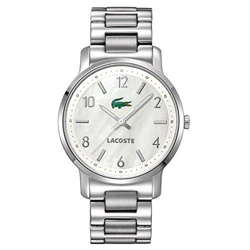 Lacoste 35mm Armband Edelstahl Gehaeuse Quarz Zifferblatt Silber Analog 2000630