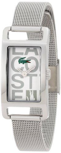Lacoste Inspiration Womens Stainless Steel Mesh Bracelet Watch White Dial 2000679
