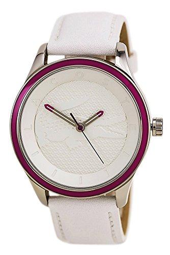 Lacoste Victoria Steel Womens Fashion Watch White Strap Pink Bezel 2000818