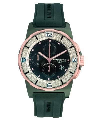 MOMODESIGN Herrenarmbanduhr Pilot Crono Automatico Diamonds Oro Rosa 600002903