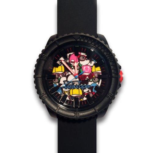 Wize Ope CR 4 Crunch Armbanduhr Armbanduhr KL129 Analog Silikon Schwarz