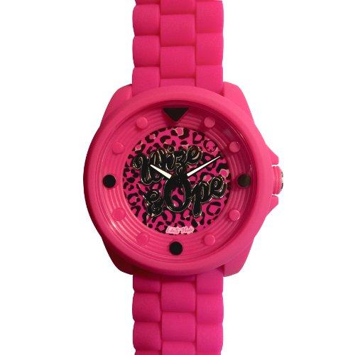 Wize Ope BIG 13 Biggy Kleintierheim Armbanduhr Analog Silikon Rosa