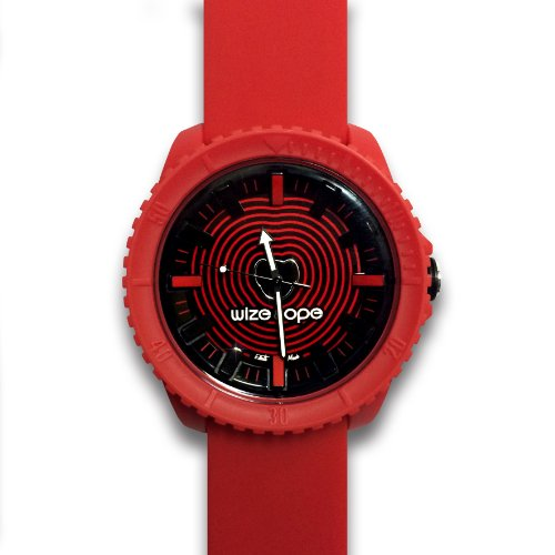 Wize Ope CR 1 Crunch Armbanduhr Analog Quarz analog Silikon Rot