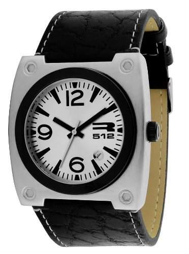 RG512-G 50071-204 Herren-Armbanduhr Anastasie Quarz analog Leder Schwarz