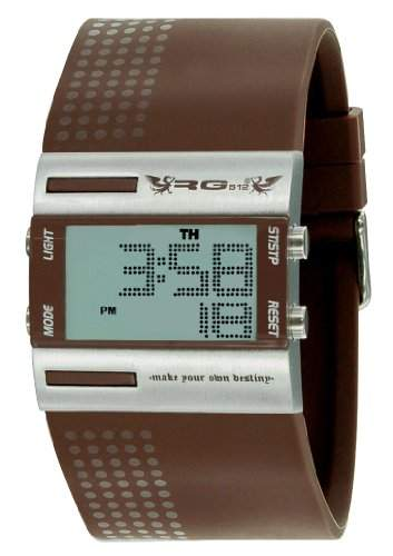 RG512-G 32271-605-Herren UHR-Digital Quarz analog Gummi Braun