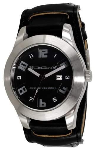 RG512-G 50661-203 Herren-Armbanduhr Anastasie Quarz analog Leder Schwarz