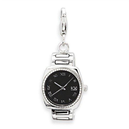 Exklusiver 925 Unique Silber Charm Uhr zum Einhaengen CH0528