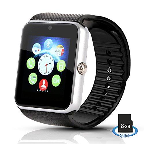 Hiwatch Bluetooth Smart Watch Uhr Handyuhr Armbanduhr mit 8GB Mikro SD Karte Schwarz