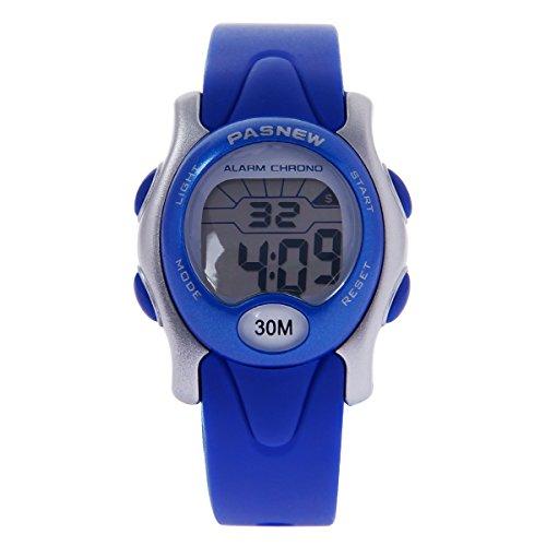 hiwatch Wasserdicht Digital Sport Armbanduhr Kinder Uhren fuer Jungen Maedchen blau