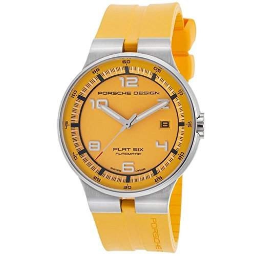 Porsche Design Flat Six Automatic Stainless Steel Mens Yellow Watch Calendar 635141941257