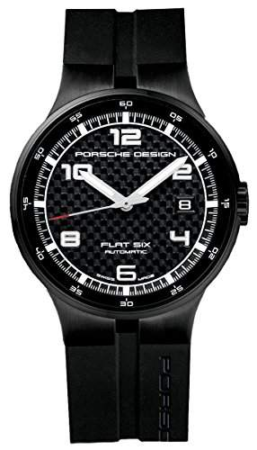 Porsche Design Flat Six Automatic Black PVD Steel Mens Watch Calendar 635143041254