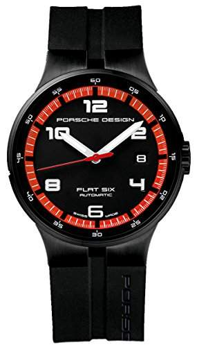 Porsche Design Flat Six Automatic Black PVD Steel Mens Watch Calendar 635143441254