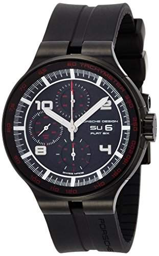 Porsche Design Flat Six Automatic Chronograph PVD Coated Steel Mens Watch Calendar 636043441254