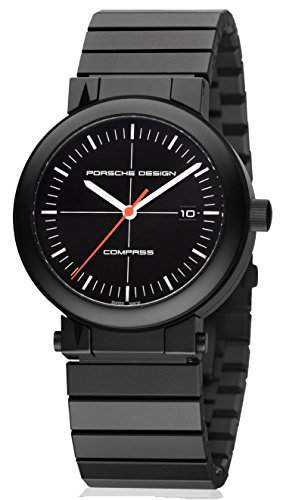 Porsche Design Compass Black PVD Titanium Mens Watch Calendar 652013410270