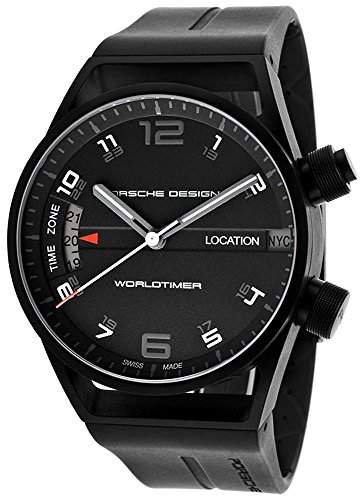 Porsche Design Worldtimer GMT Automatic Black PVD Titanium Mens Watch 675013441180