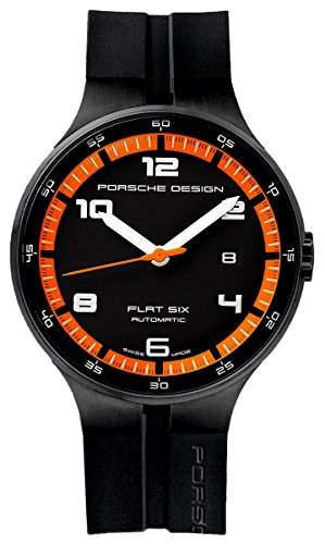 Porsche Design Uhr Flat 6 P3650 Automatik PVD - Schwarz und Orange