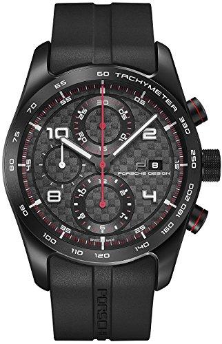 Porsche Design Chronotimer Series 1 Automatik Uhr Titan chwarz rot
