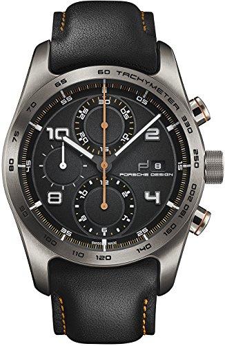 Porsche Design Chronotimer Series 1 Automatik Uhr Titan Schwarz Orange