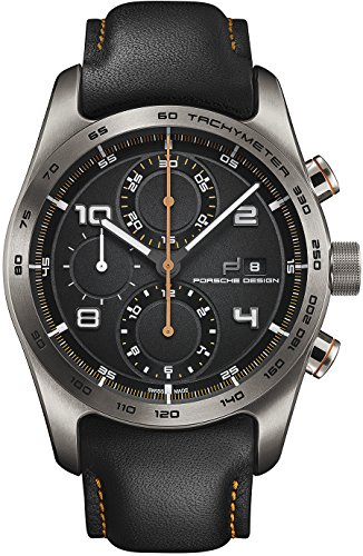 Porsche Design Chronotimer Series 1 Automatik Uhr Titan Schwarz Orange