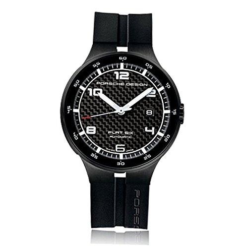 Porsche Design Flat Six Automatik Uhr Carbonfasern Schwarz 6350 43 04 1254