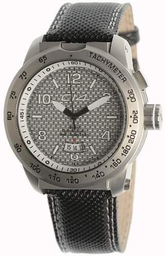 Carbon 14 Herren-Armbanduhr Analog Edelstahl schwarz E33