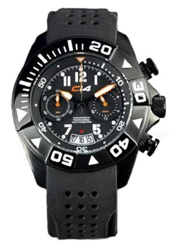Carbon 14 s WomenChronograph Watch WL11 mit schwarzem Silikon-Band