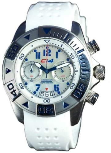 Carbon 14-WL12 Damen-Armbanduhr Analog Silikon Weiss