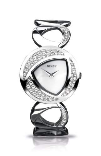 Seksy by Sekonda Damen-Armbanduhr Analog edelstahl Silber 448837