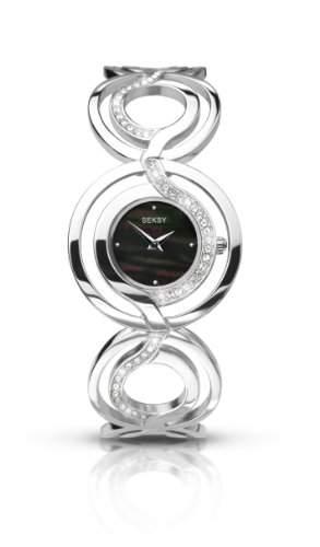 Seksy by Sekonda Damen Armbanduhr Chronograph Edelstahl silber 455837