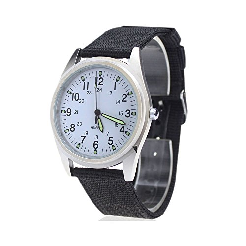 City silber Fall Weiss Zifferblatt Quarz Nylon Stoff Gurt Fashion Armbanduhr