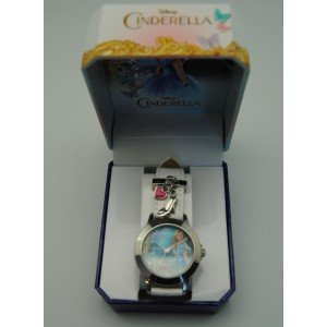 Kids Euroswan Disney WD16690 Cinderella Live Armbanduhr Farbe Weiss