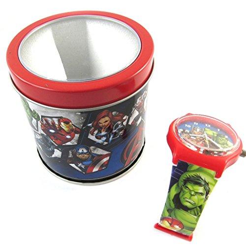 Analoge uhr box Avengersbunt rot