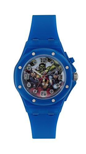 The Avengers Jungen Armbanduhr Analog Gummi Blau AVG3501